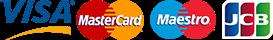 Visa, MasterCard, Maestro, JCB